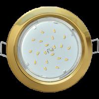 Ecola GX53 H4 светильник встраиваемый без рефлектора Золото 38×106