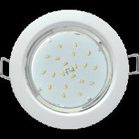 Светильник Ecola GX53 H4 встраиваемый без рефлектора Белый 38×106