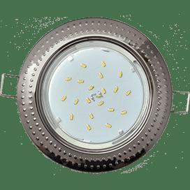 Светильник Ecola GX53 H4 встраиваемые без рефлектора «Чеканка» Черненый хром 43×115