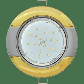 Светильник Ecola GX53 H4 встраив. без рефл. «Волна» золото-серебро 38×116