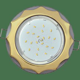 Светильник Ecola GX53 H4 встраив. без рефл. «Звезда» золото-серебро 38×116