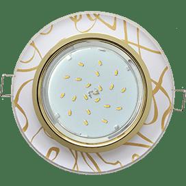 Светильник Ecola GX53 H4 Glass Стекло Круг золото — золото на белом 38×126