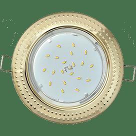 Светильник Ecola GX53 H4 встраиваемый без рефлектора «Чеканка» Золото 43×115