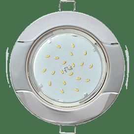 Светильник Ecola GX53 H4 встраив. без рефл. «Волна» хром-серебро 38×116