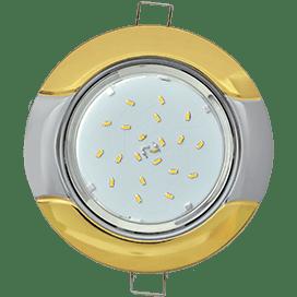Светильник Ecola GX53 H4 встраив. без рефл. «Волна» золото-хром 38×116