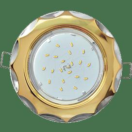 Светильник Ecola GX53 H4 встраив. без рефл. «Звезда» золото-хром 38×116