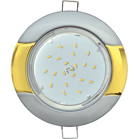Светильник Ecola GX53 H4 встраив. без рефл. «Волна» серебро-золото 38×116