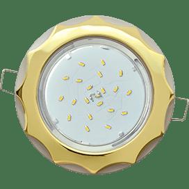 Светильник Ecola GX53 H4 встраив. без рефл. «Звезда» золото-жемчуг 38×116