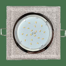 Светильник Ecola GX53 H4 Glass Стекло Квадрат скошенный край Хром — серебряный блеск 38x120x120