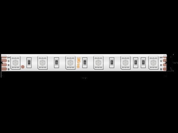 Лента светодиодная стандарт 5050, 60 LED/м, 14,4 Вт/м, 24В , IP65, Цвет: RGB