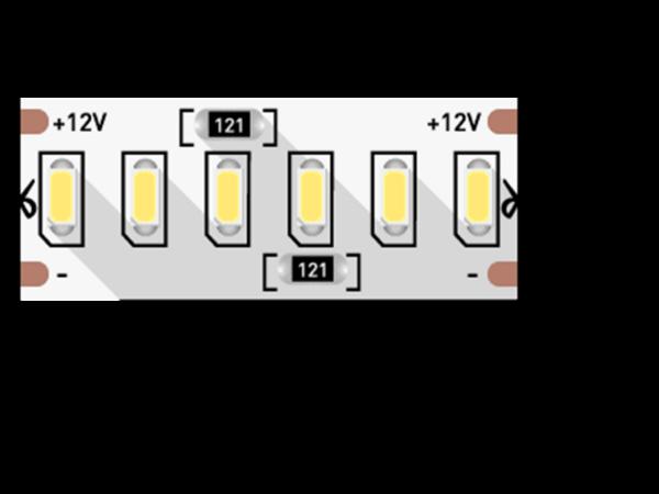 Лента светодиодная стандарт 3014, 240 LED/м, 24 Вт/м, 12В, IP20, Цвет: Нейтральный белый