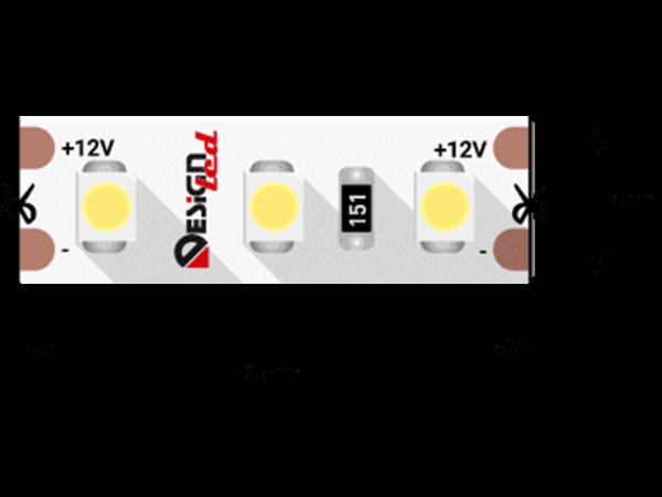 Лента светодиодная LUX, 3528, 120 LED/м, 9,6 Вт/м, 12В, IP33, Теплый белый (2700K)