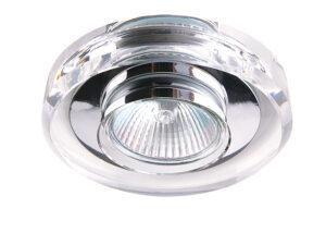 002040 (052910) Светильник SOLO CYL MR16  ХРОМ/ПРОЗРАЧНЫЙ (в комплекте)