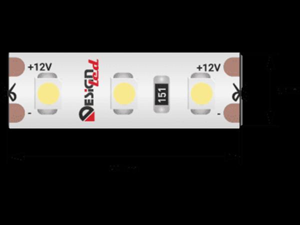 Лента светодиодная LUX, 3528, 120 LED/м, 9,6 Вт/м, 12В, IP65, Нейтральный белый (4000K)
