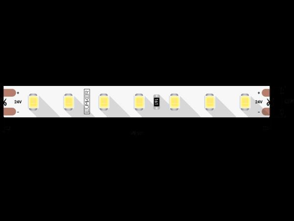 Лента светодиодная LUMKER, 2835, 98 LED/м, 10 Вт/м, 24В, IP33, Теплый белый (3000K)