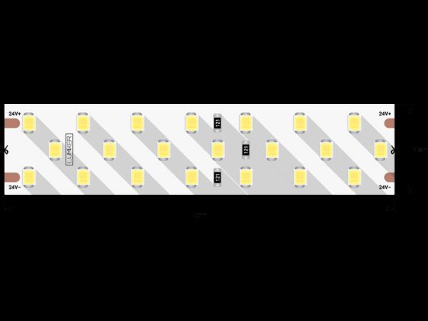 Лента светодиодная LUMKER, 2835, 252 LED/м, 24 Вт/м, 24В, IP33, Цвет: Нейтральный белый (4000K)
