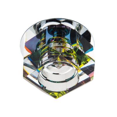 004061*** Светильник ROMB MC G4 ХРОМ/МУЛЬТИКОЛОР (в комплекте)