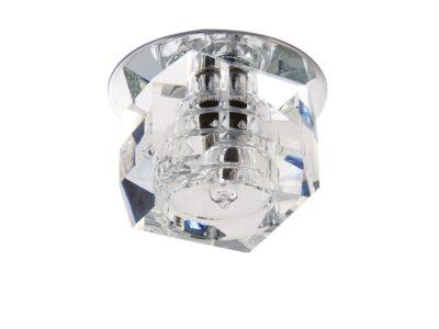 004064*** Светильник ROMB MICRO CR G4  ХРОМ/ПРОЗРАЧНЫЙ (в комплекте)