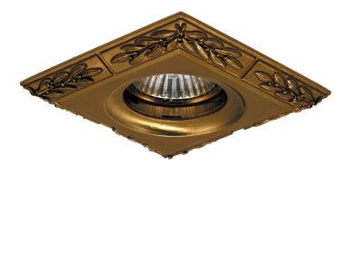 011148*** Светильник HELIO квадр лавр MR16 БРОНЗА (в комплекте)