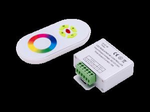 Led controller touch DELUCE 18А, 12/24 Вольт  5 кнопок  и сенсорное кольцо