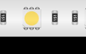 Лента светодиодная LUX, 5050, 60 LED/м, 14,4 Вт/м, 12В, IP65, Холодный белый (6000K)