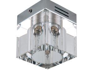 104010 Светильник ALTA QUBE LO CR G9 ХРОМ/ПРОЗРАЧНЫЙ (в комплекте)