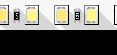Лента светодиодная ПРО 2835, 120 LED/м, 14,4 Вт/м, 24В , IP20, Цвет: Теплый белый + холодный белый