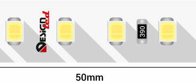 Лента светодиодная LUX, 2835, 120 LED/м, 14,4 Вт/м, 24В, IP33, Холодный белый (6000K)