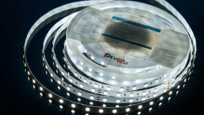 Фото Лента светодиодная LUX, 5050, 60 LED/м, 14,4 Вт/м, 24В, IP33, Холодный белый (6000K)