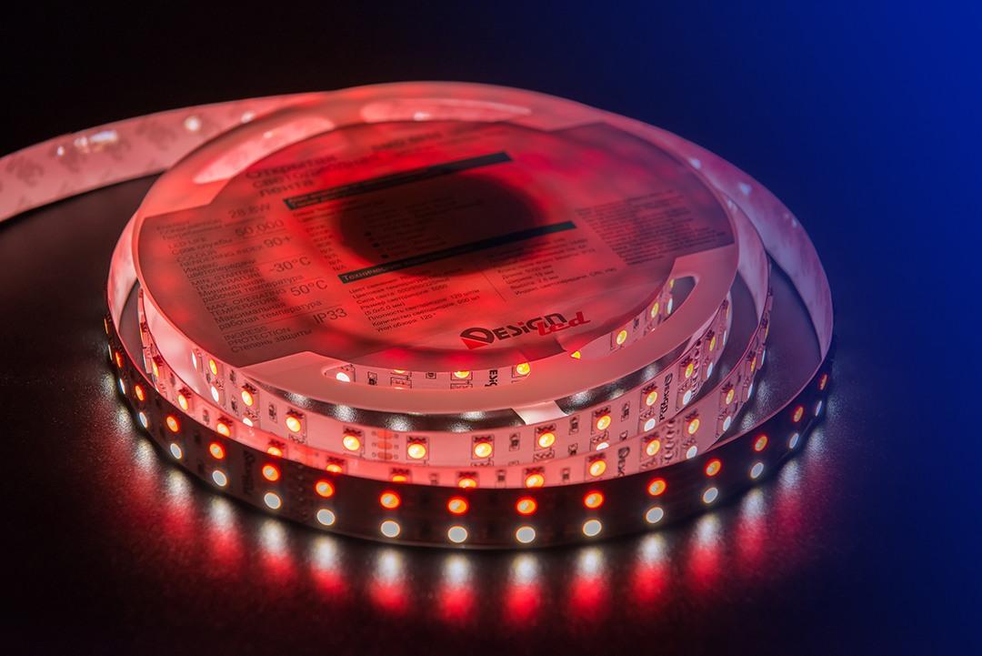 Лента светодиодная LUX, 5050, 120 LED/м, 28,8 Вт/м, 24В, IP33, RGB + нейтральный белый (RGB+4000K)