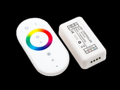 LED RGB радио сенсорный 18A. 12/24V  Белый, модель 2