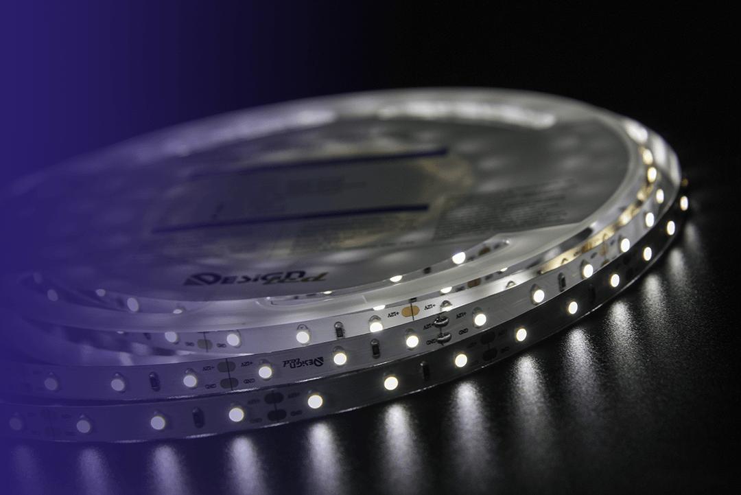 Лента светодиодная LUX, 3528, 60 LED/м, 4,8 Вт/м, 12В, IP33, Нейтральный белый (4000K)
