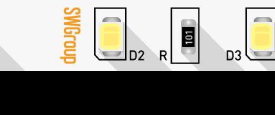 Лента светодиодная стандарт 2835, 60 LED/м, 4,8 Вт/м, 12В , IP20, Цвет: Нейтральный белый