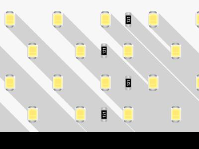 Лента светодиодная LUX, 2835, 280 LED/м, 26 Вт/м, 24В, IP33, Нейтральный белый (4000K)