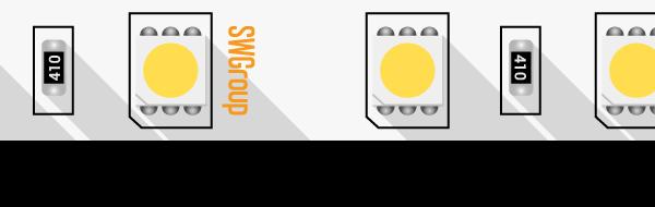 Лента светодиодная стандарт 5050, 60 LED/м, 14,4 Вт/м, 24В , IP20, Цвет: Холодный белый