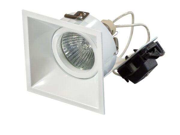 214506 Светильник DOMINO QUADRO MR16 БЕЛЫЙ (в комплекте)