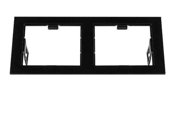 214527 Рамка DOMINO Double QUADRO MR16 ЧЕРНЫЙ (в комплекте)