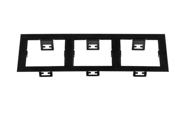 214537 Рамка DOMINO Triple QUADRO MR16 ЧЕРНЫЙ (в комплекте)