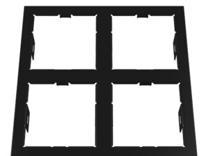 214547 Рамка DOMINO QUADRO 2х2 MR16 ЧЕРНЫЙ (в комплекте)