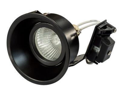 214607 Светильник DOMINO ROUND МR16 ЧЕРНЫЙ (в комплекте)
