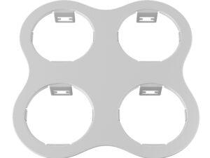 214646 Рамка DOMINO ROUND 2×2 МR16 БЕЛЫЙ (в комплекте)