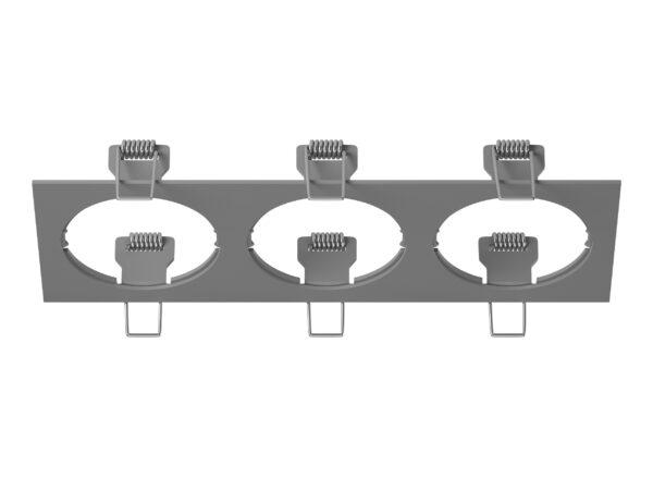217539 Рамка INTERO 16 Triple OUADRO СЕРЫЙ (в комплекте)