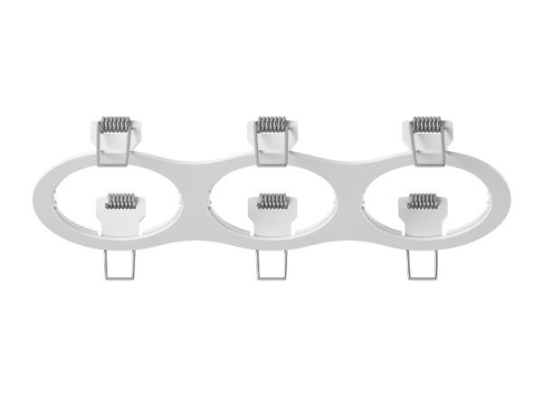 217636 Рамка INTERO 16 Triple ROUND БЕЛЫЙ (в комплекте)