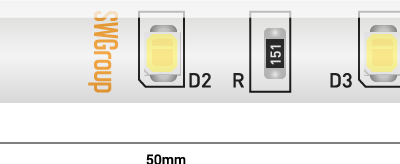 Лента светодиодная стандарт 2835, 60 LED/м, 4,8 Вт/м, 12В , IP65, Цвет: Теплый белый