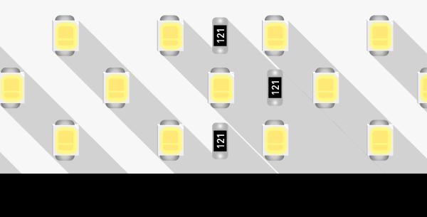 Лента светодиодная LUX, 2835, 252 LED/м, 24 Вт/м, 24В, IP33, Теплый белый (2700K)