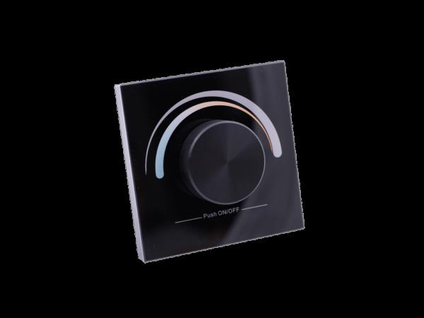 Радио панель W-CCT (B) встраиваемая в стену с валкодером на 1 зону  для MIX ленты, черная