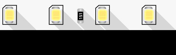 Лента светодиодная ПРО 2835, 80 LED/м, 7,2 Вт/м, 24В , IP20, Цвет: Нейтральный белый