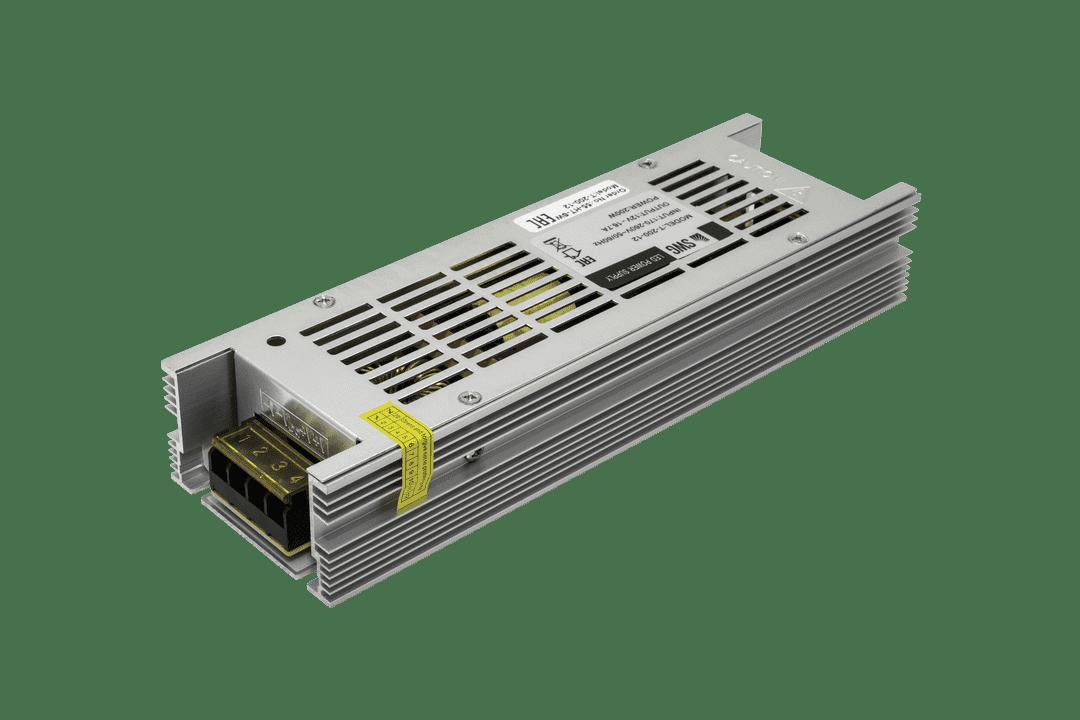Блок питания компактный (узкий), 200 W, 12V