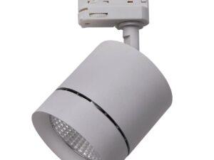 301594 Светильник для 3-фазного трека CANNO LED 15W 960LM 30G СЕРЫЙ 4000K IP20 (в комплекте)