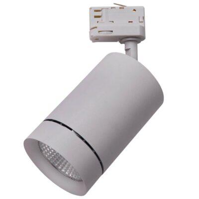 303592 Светильник для 3-фазного трека CANNO LED 35W 2240LM 45G СЕРЫЙ 3000K IP20 (в комплекте)